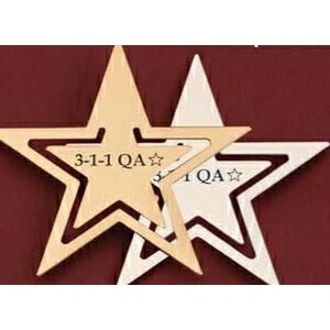 Star Shaped Gold Metal Bookmark